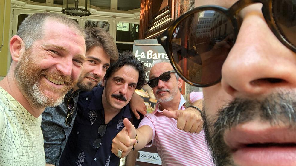 Juan Pajares, Enric Cambray, Darío Adanti, Mia Font y Edu Galán